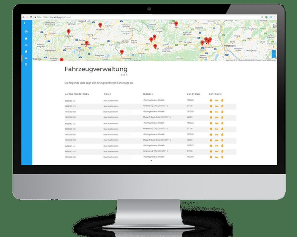 AutoLogg für Flotten - Management aller Fahrtenbücher