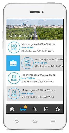 Elektronisches Fahrtenbuch von AutoLogg - Die App