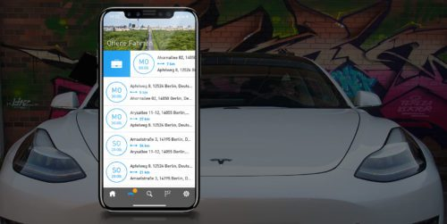 AutoLogg Fahrtenbuch App für Tesla