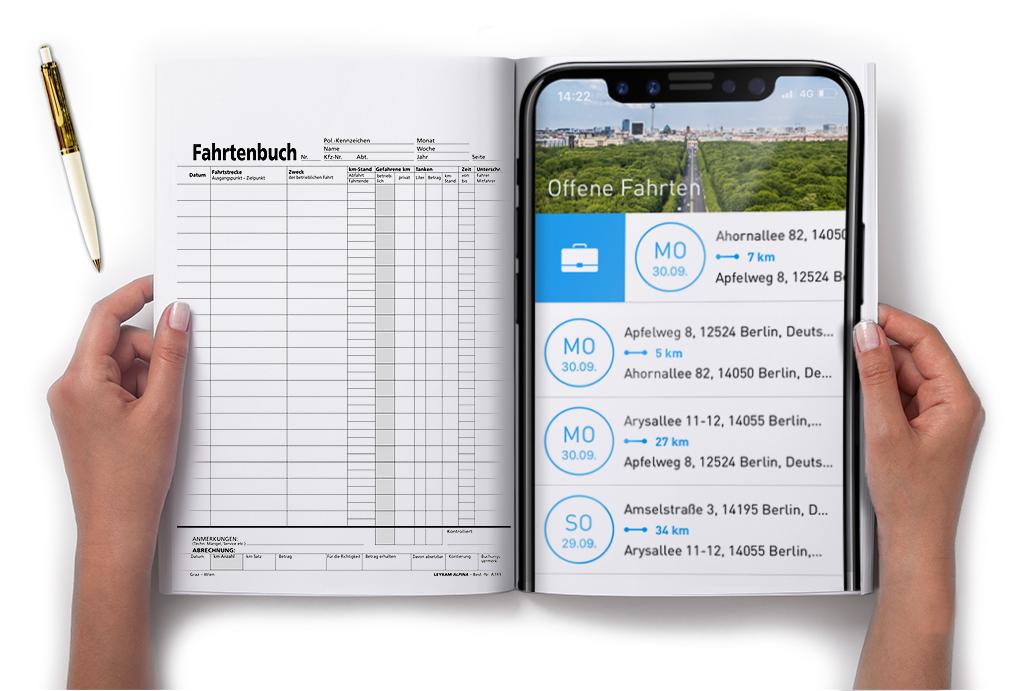 Digital vs. analog - der Fahrtenbuchvergleich von AutoLogg