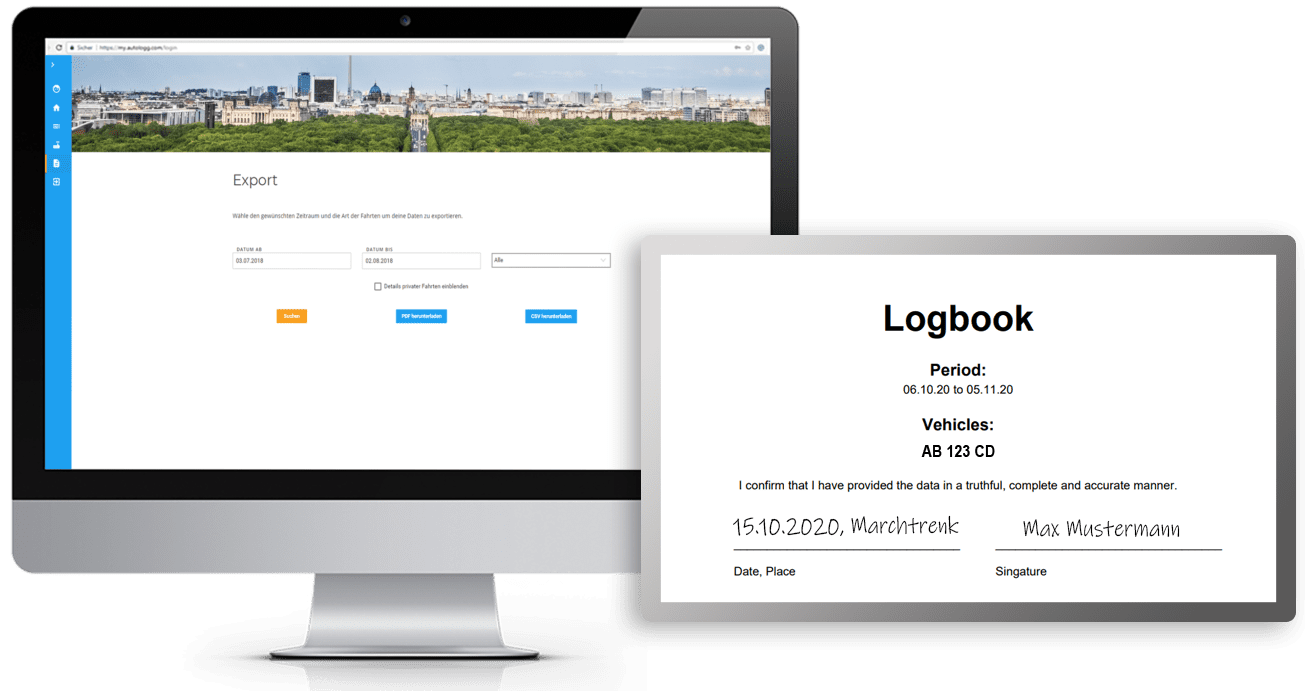 Log book export